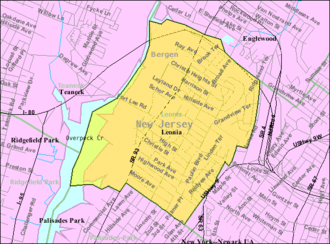 Leonia, New Jersey - Image: Census Bureau map of Leonia, New Jersey