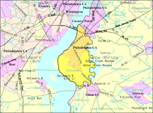 Pennsville Township, New Jersey - Image: Census Bureau map of Pennsville Township, New Jersey