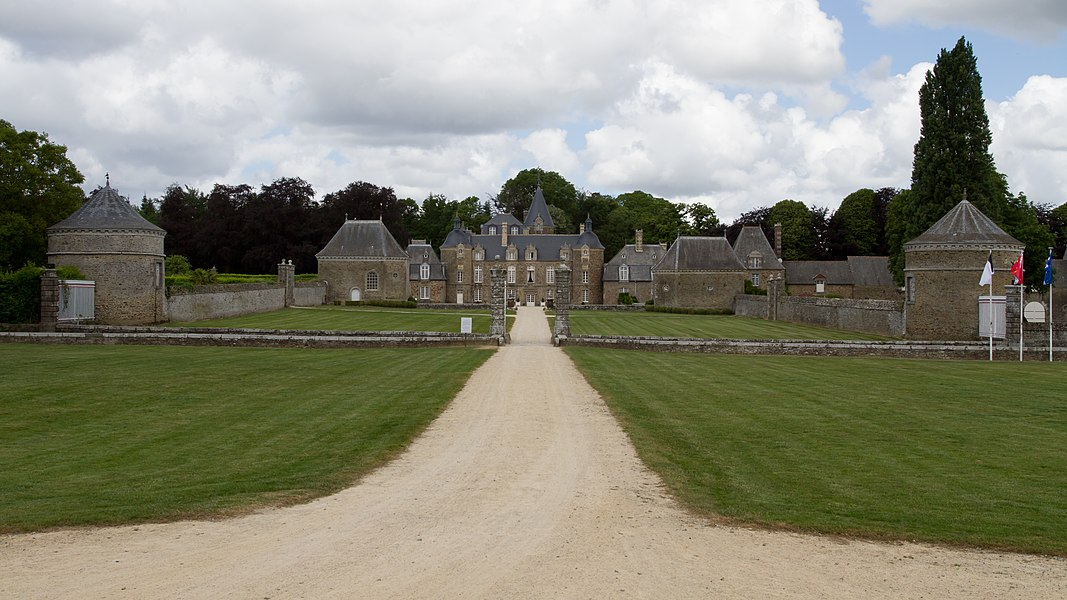 Castle of La Bourbansais (Ille-et-Vilaine, France).