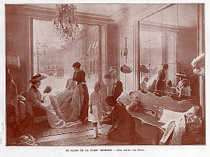 Fashion design - The Chéruit salon on Place Vendôme in Paris, 1910