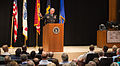 Chairman of the Joint Chiefs of Staff U.S. Army Gen. Martin E. Dempsey, at the lectern, speaks at Theodore Hesburgh Library at the University of Notre Dame in South Bend, Ind., Sept 140906-D-KC128-187.jpg