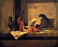 Chardin - Musical Instruments and Parrot, 1732.jpg