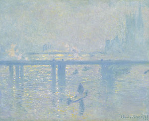 Hungerford Bridge and Golden Jubilee Bridges - Charing Cross Bridge, Claude Monet 1899, Collection Carmen Thyssen-Bornemisza, Thyssen-Bornemisza Museum, Madrid