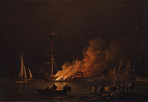 Charles Brooking - Ship on fire at night - Google Art Project.jpg