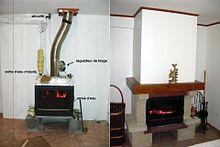 Insert chemin e wikip dia - Transformer une cheminee rustique en contemporaine ...