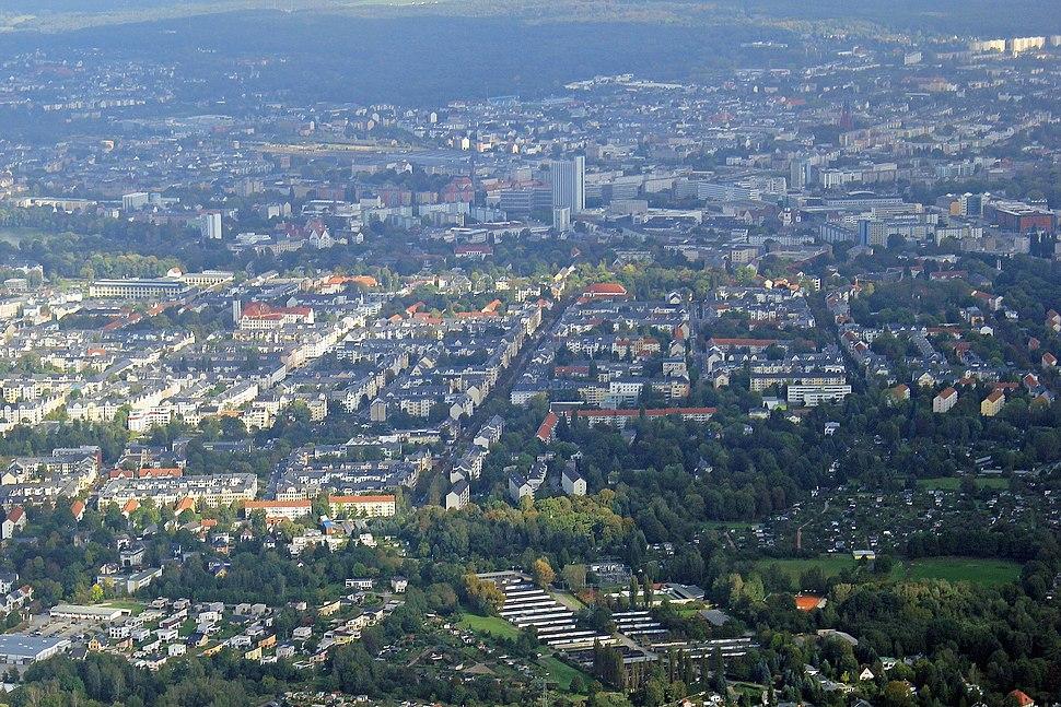 Chemnitz Stadtzentrum vom Kaßberg 2014