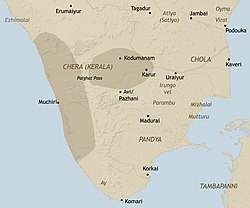 Chera country in early historic south India