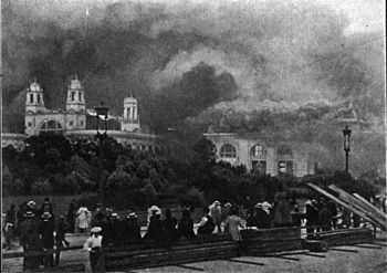 The Burning of the White City. (Electricity Bu...
