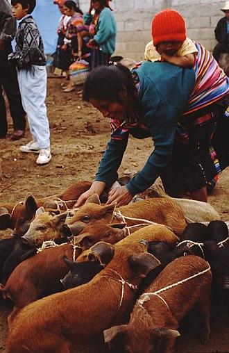 Quiché Department - Chichicastenango Market, 1996