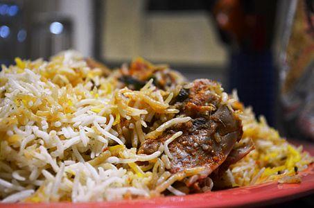Chicken Biryani from the streets of Hyderabad.JPG
