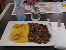Chili con carne aboard an Austrian Railjet train.jpg