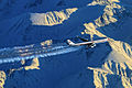 China Eastern Airlines Airbus A340-600 flying over mountains in Alaska.jpg