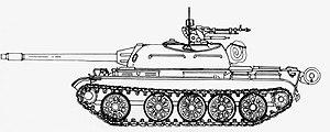 Type 62 - Chinese Type 62 light tank graphic.