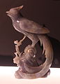 Chinese statue of a Paradise Flycatcher.jpg