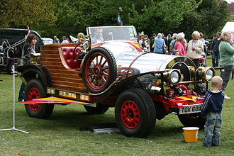 "Chitty Chitty Bang Bang (car) - Carolyn Pointing's ""Chitty"" at a 2009 event"