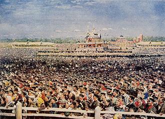 Khodynka Tragedy - Spectators gathered at Khodynka