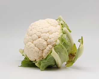 Anthoxanthin - White cauliflower has anthoxanthin pigments