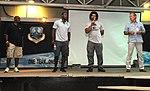 Chris Draft, Darren Woodson, Kawika Mitchell and Mark Moseley at 380th AEW.jpg