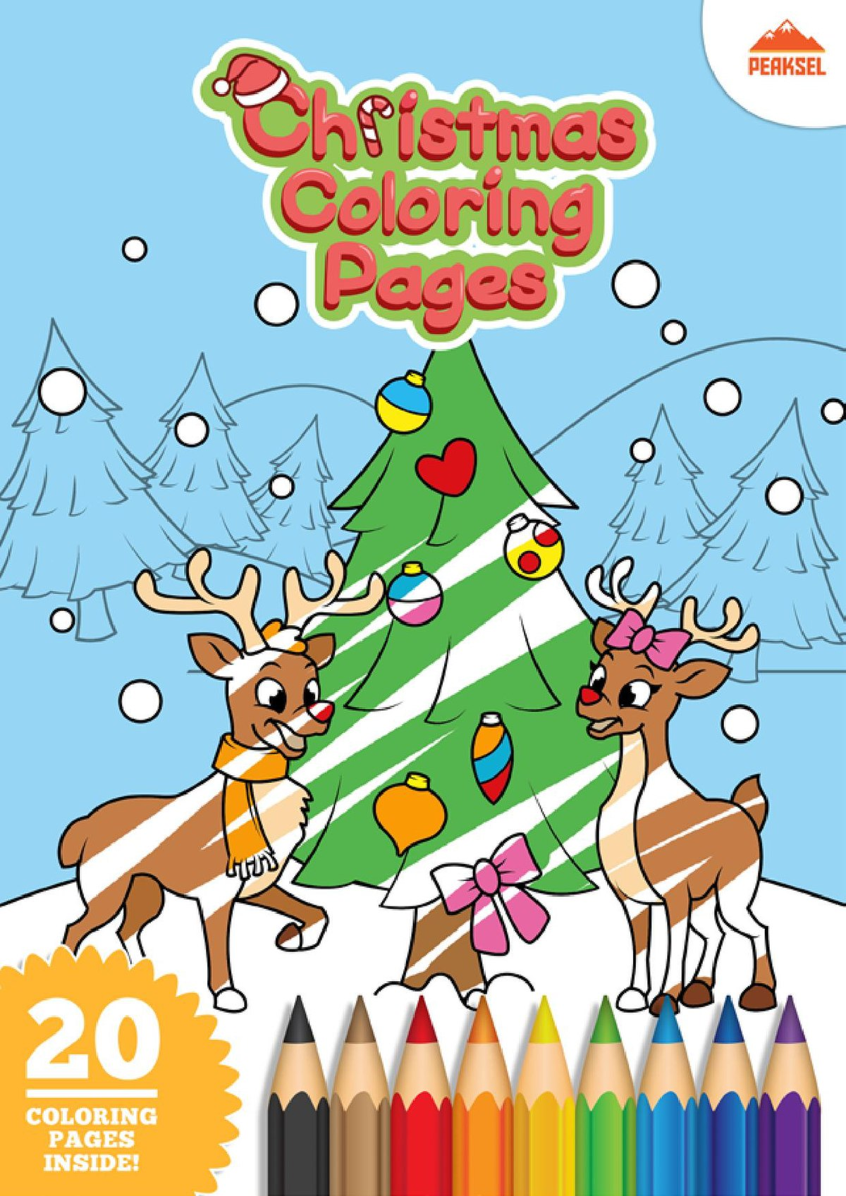 Christmas Coloring Pages - Easy Peasy and Fun | 1697x1200