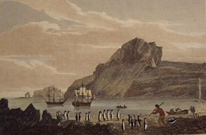 Kerguelen Islands - Christmas Harbour, Kerguelens Land, dated 1811 by George Cooke