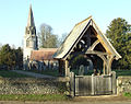 Church and Lych Gate. - geograph.org.uk - 696592.jpg