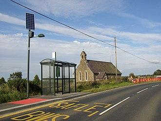 Solar street light - Solar street light at the bus stop