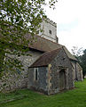Church of the Holy Cross, Goodnestone - north aisle from north-east 01.jpg