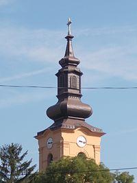 Church tower. - Pincehely.JPG