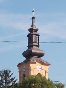 Church tower. - Pincehely.JPG