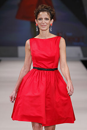 Cynthia Leive - Leive modelling in The Heart Truth's 2012 Red Dress Fashion Show