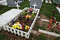 City of London Cemetery and Crematorium - temporary grave decorations 04.jpg