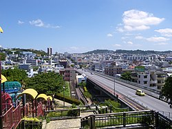 Cityscape in Tomigusuku from Kaigungo Navy Headquarters Park.JPG