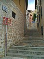 Ciudad de Burgos, casco antiguo, escaleras al castillo.jpg