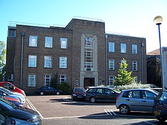 Department of Physics, University of Oxford - The Clarendon Laboratory Lindemann Building front facade.
