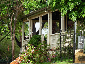 The Cliffe east verandah from the road