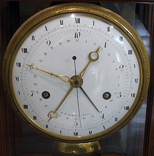 Clock face - French 10-hour clock