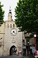 Clocktower of Sommieres as seen from the Roman bridge over the Vidourle river - panoramio.jpg