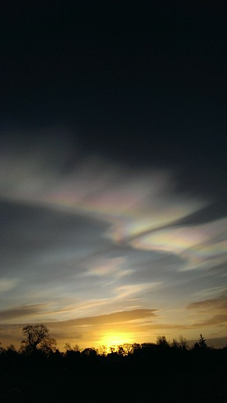 Cloud iridescence - Cloud iridescence over County Kildare, Ireland