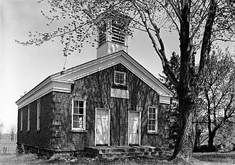 Cobblestone architecture - The Cobblestone Schoolhouse is part of the Cobblestone Historic District, in the hamlet of Childs, New York.