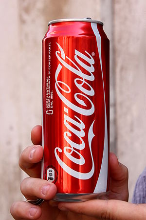 A 50cl Italian coke can. (Photo credit: Wikipedia)