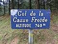 Col de la Casse Froide (Rhône) en mars 2019 - Panneau.jpg