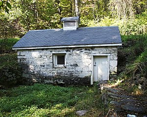 National Register of Historic Places listings in Monroe County, Pennsylvania - Image: Cold Spring Farm Springhouse DWG NPS
