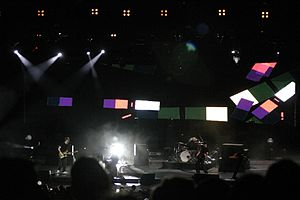 """Clocks (song) - Coldplay performing """"Clocks"""" on the Twisted Logic Tour"""
