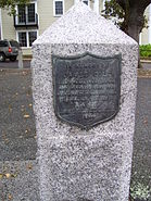Cole's Hill marker in Plymouth Mass