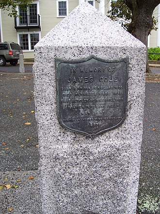 Cole's Hill - Image: Cole's Hill marker in Plymouth Mass