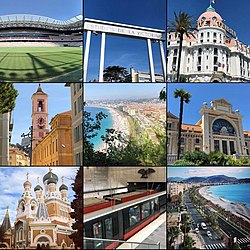 Diverses vues de Nice.