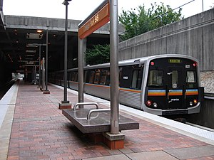 College Park station (MARTA) - College Park Station as seen from the platform