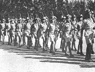 Goffal - Coloured and Indian military personnel on parade in Southern Rhodesia, 1940.
