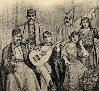 Music of Iraq - Musical theater group in Baghdad, 1920s.