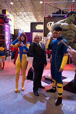Comic Con Experience - 2014 - Cosplay Jean Grey, Professor X and Cyclops.jpg
